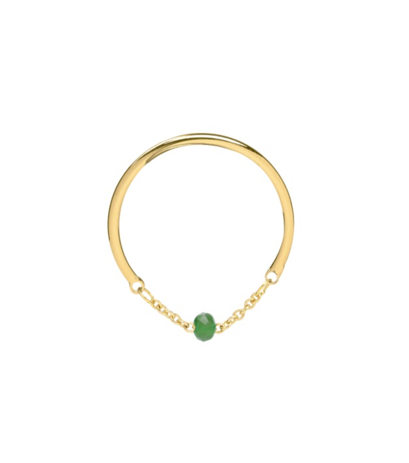 Ring One Colour Stone Groen