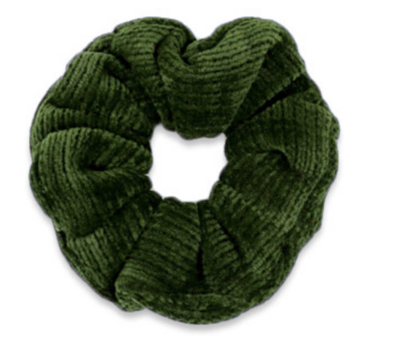 Scrunchie Corduroy Dusty olive