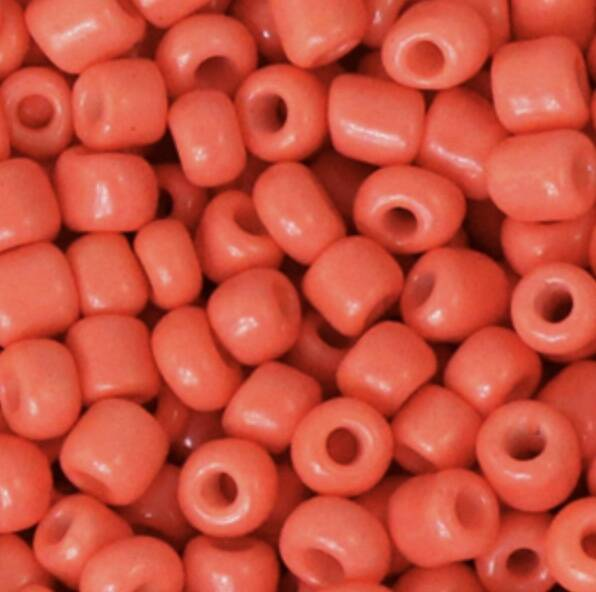 Rocailles 4mm Neon Coral Orange.