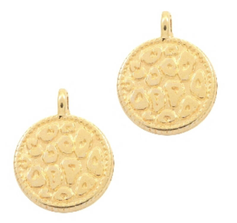 DQ bedel leopard skin gold plated