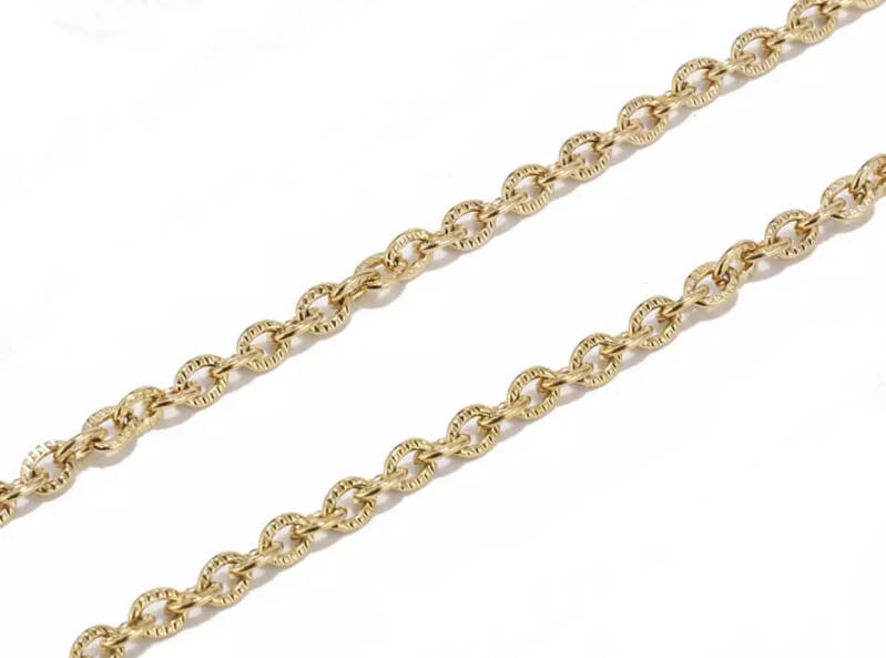 Stainless steel Jasseron cable 3mm Goud