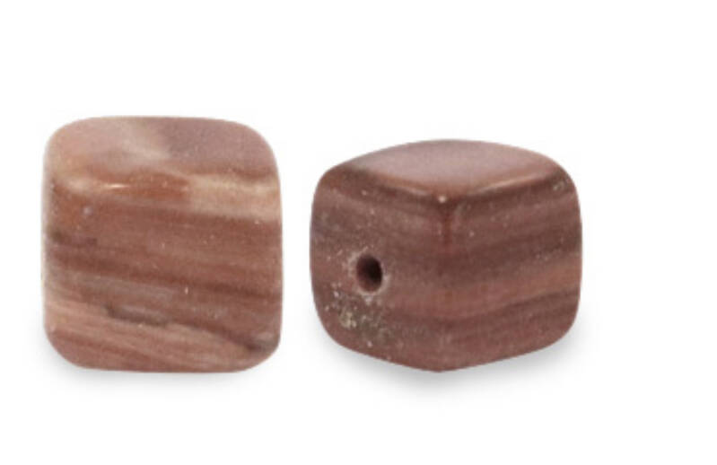 Natuursteen square 4mm multicolor soft brown