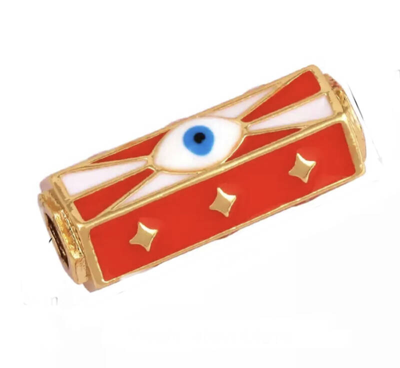 Message beads eye Red / gold