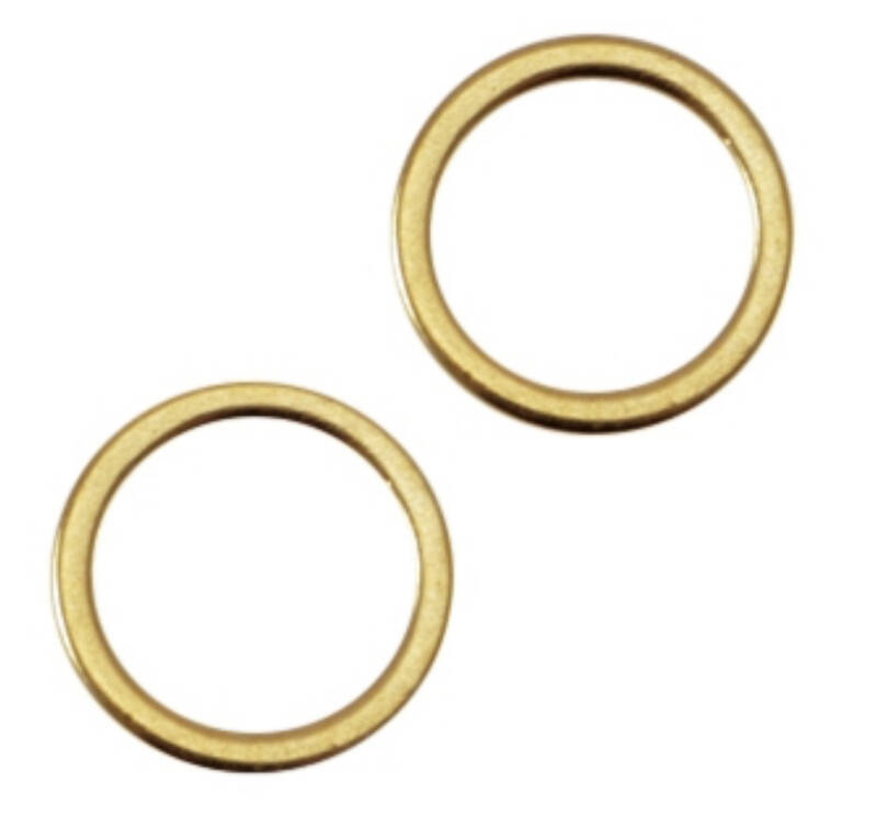 DQ gesloten ring 8x1,2 mm gold plated