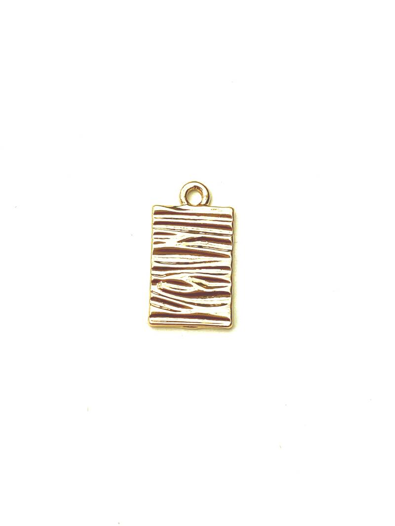 Tag wave goud 10x16mm