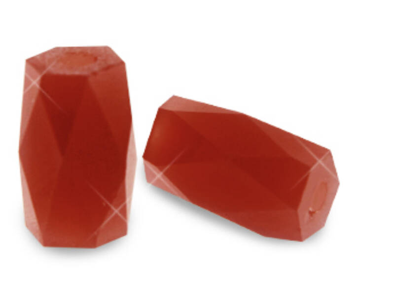 Facet tube Red Magma Opal
