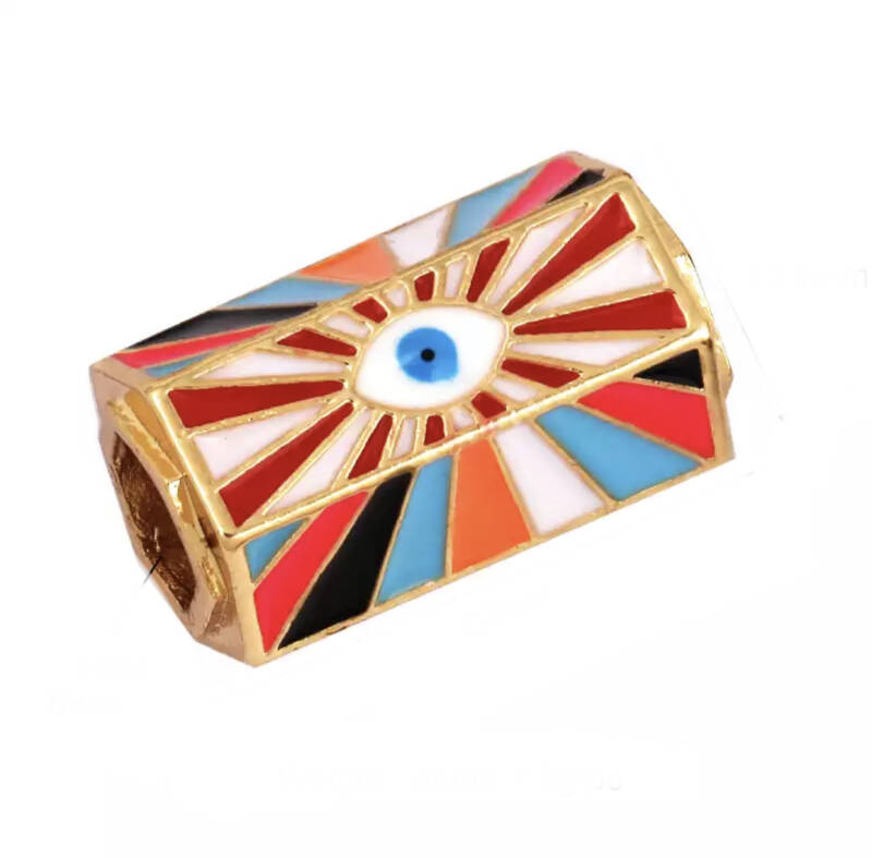 Message Beads Eye multicolor Red