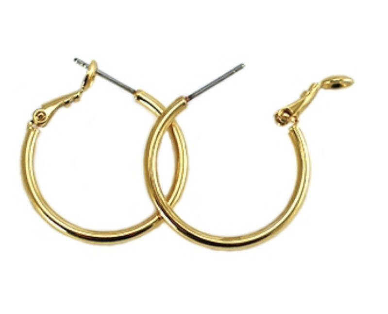 DQ creolen 20mm gold plated