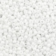 4mm rocailles, 2228 Bright White AB