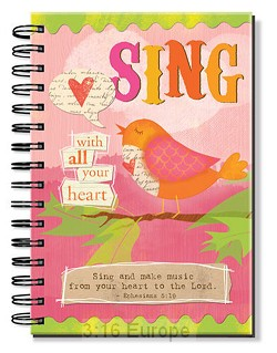 Journal - Wirebound - Sing with all your heart
