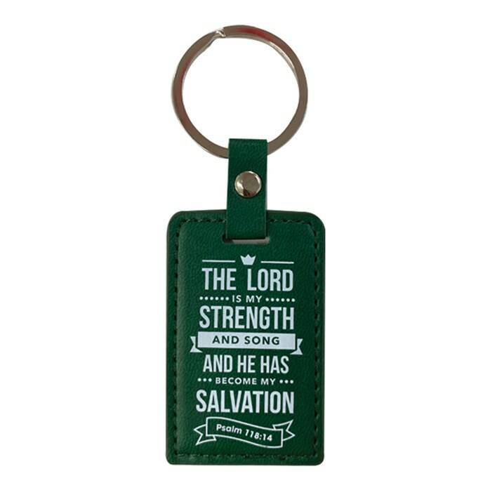 Sleutelhanger Lux Leather  - Lord is my strength