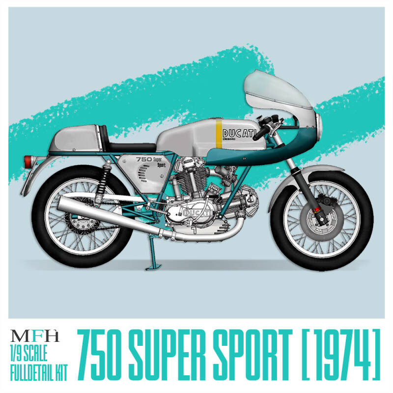 MFH HQ model kit K757  : 1/9 Ducati Super Sport 1974