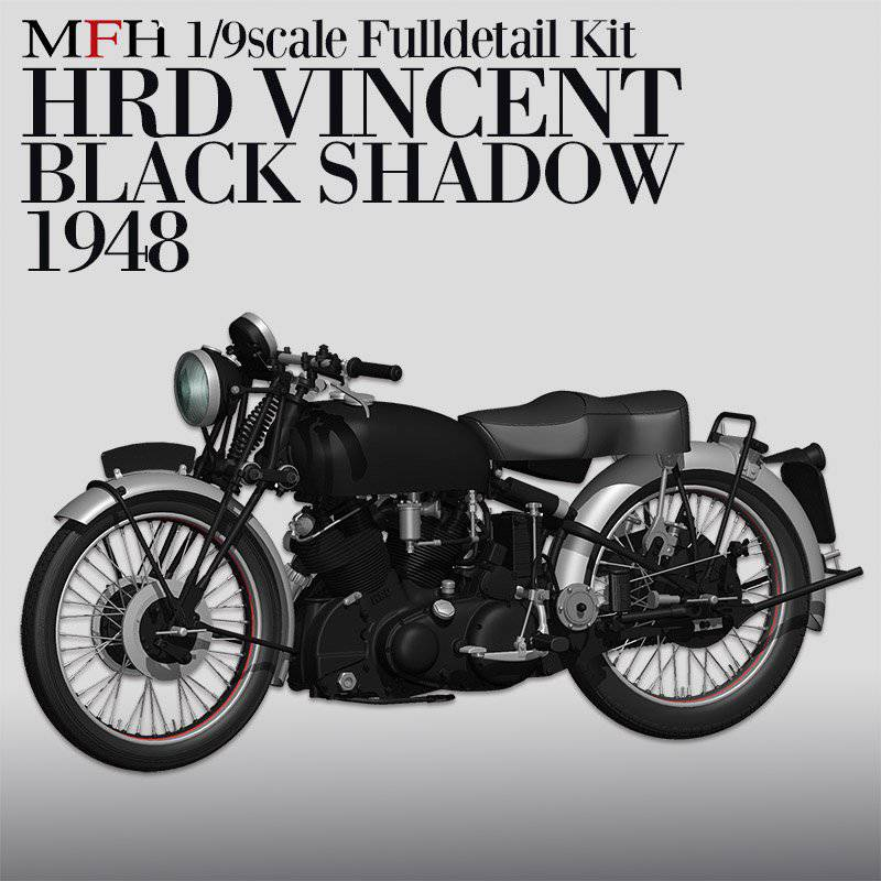MFH Model kit HRD Vincent Black or White Shadow , DRIE VERSCHILLENDE UITVOERINGEN