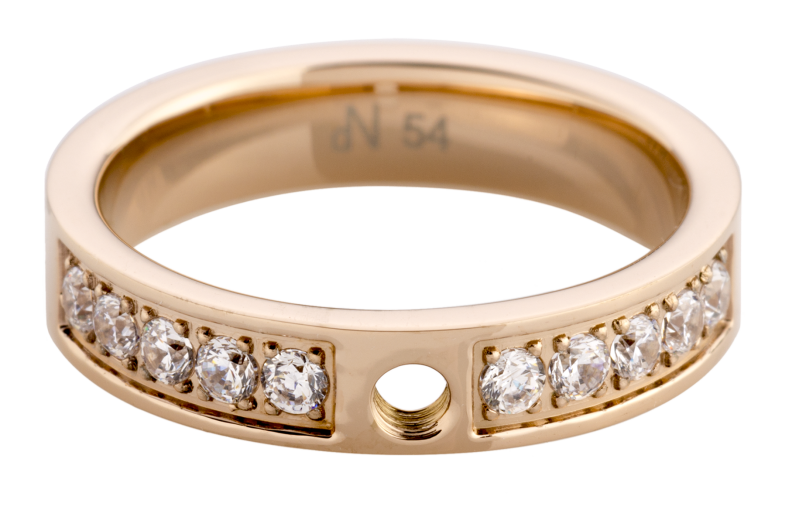 daNicci Ring Chic 4mm Rosé-Gold