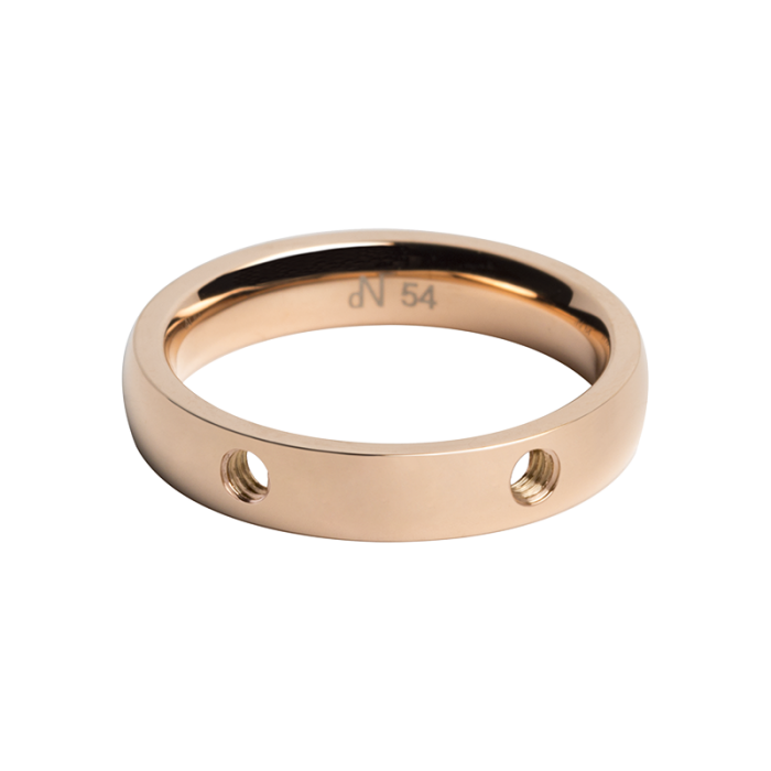 daNicci ring Double 4mm Rosé-Gold