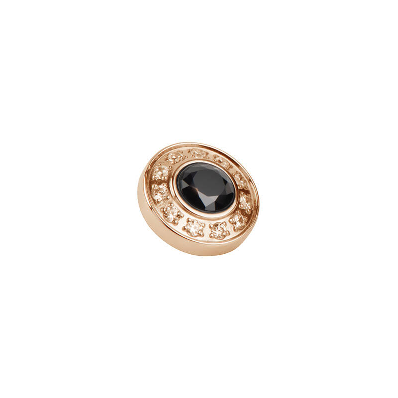 daNicci Brilliance 9 mm Rosé-Goud Diamond/Black