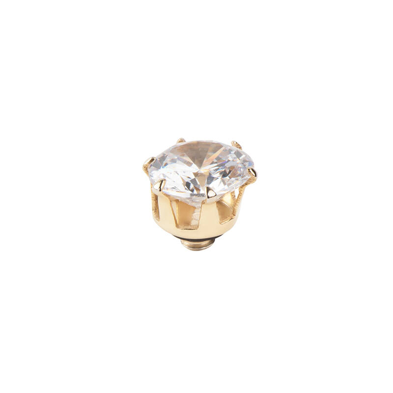 daNicci Crown 7mm Gold Diamond