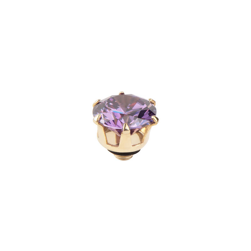 daNicci Crown 7mm Gold Purple