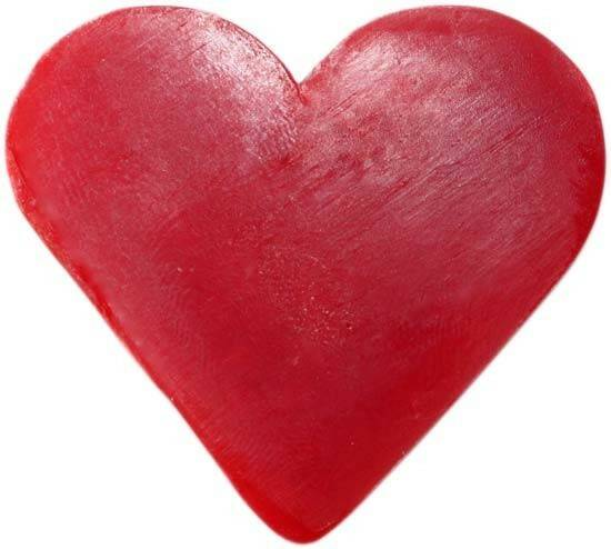 Heart Shaped Guest Soaps - Raspberry.