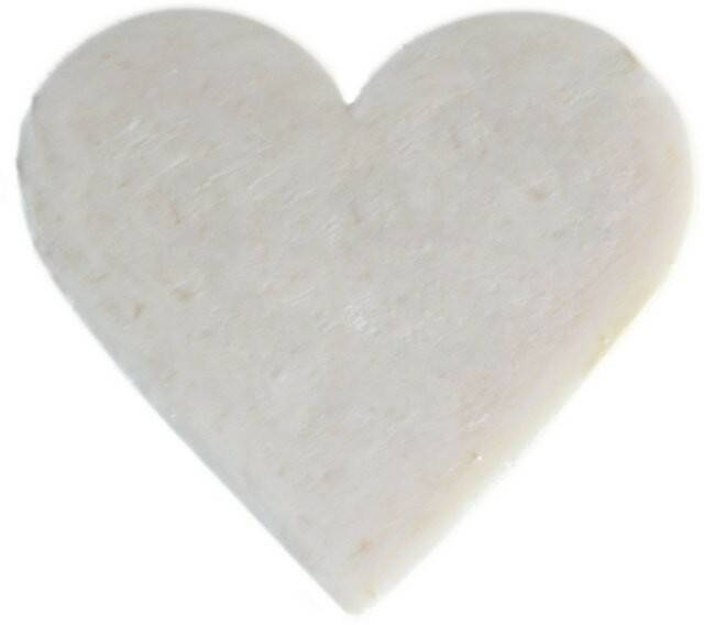 Heart Shaped Guest Soaps - Coconut.