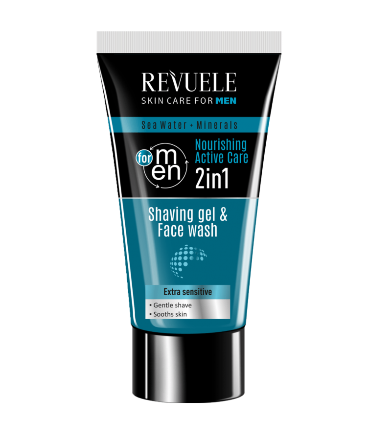 Shaving Gel and Face Wash 2in1.