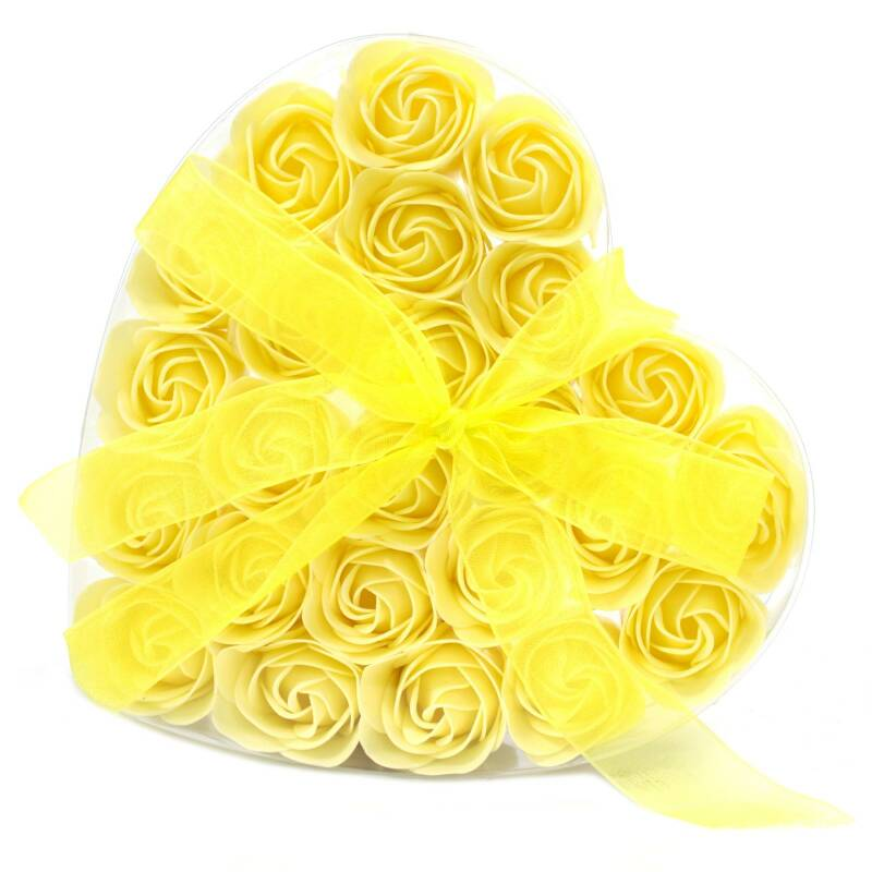 Set of 24 Soap Flower - Yellow Roses.