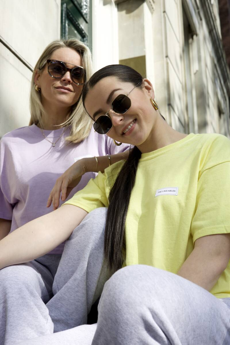 Likeable T-shirt Geel