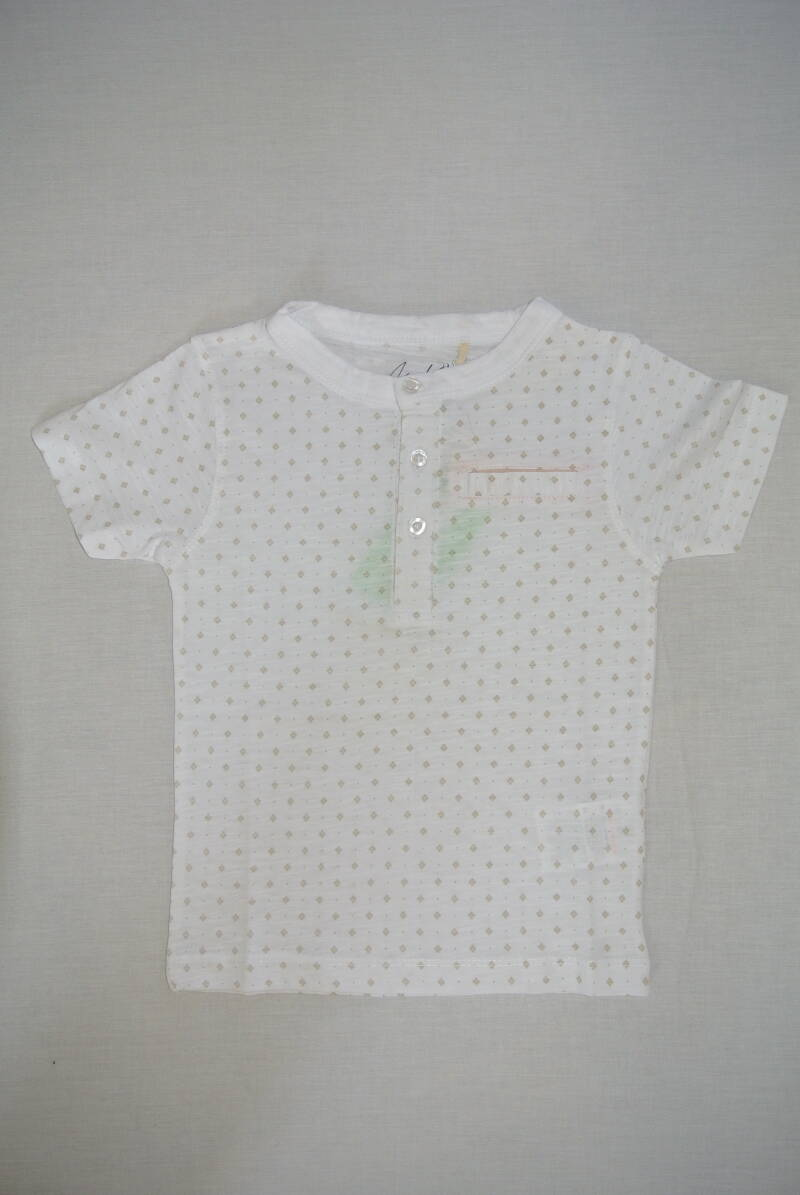 Knot so bad t-shirt wit/goud