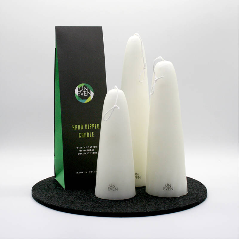 Hand Dipped Candle  3 sizes - Uneven