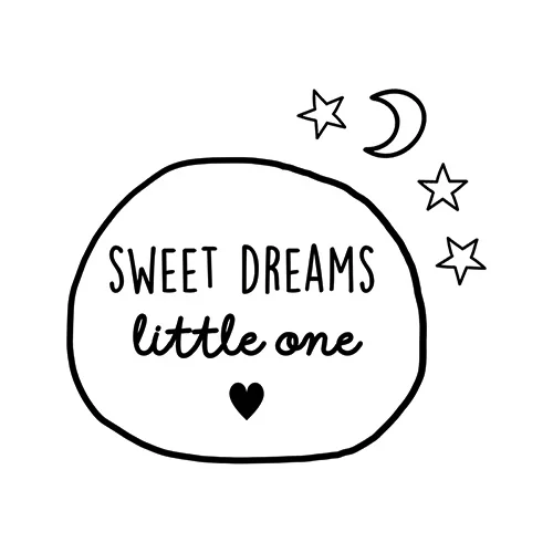 Muur/deur sticker sweet dreams