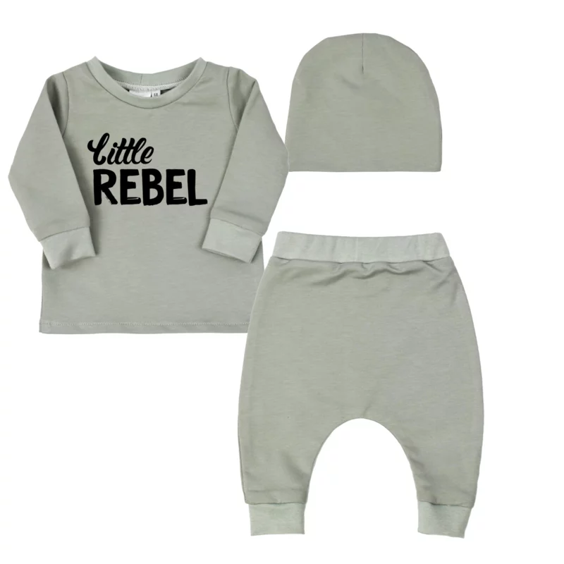 Kraamkadobox - Longsleeve + Harembroekje + Beanie - Little Rebel