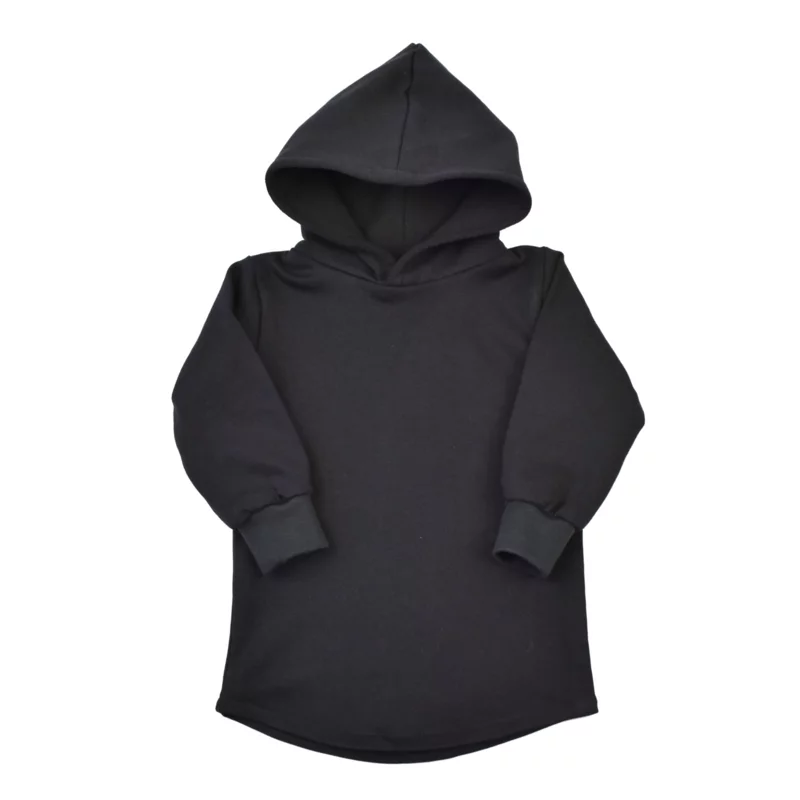 Baggy Hoodie Dress | Black |