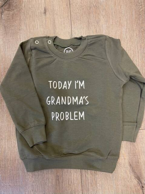 Sweater groen Grandma's problem