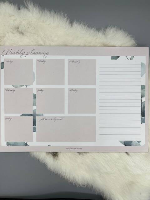 Weekly planner Stationary Gift