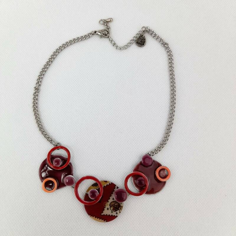 Bijoux just a touch Ketting Cirkel Emaille