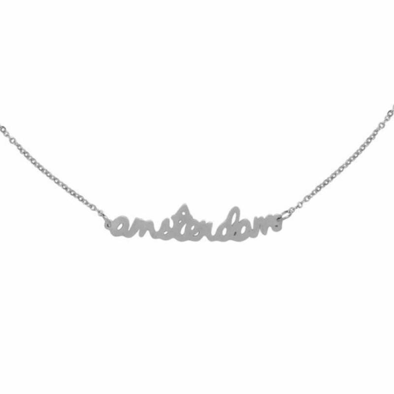 Stainless Steel ketting Amsterdam zilver