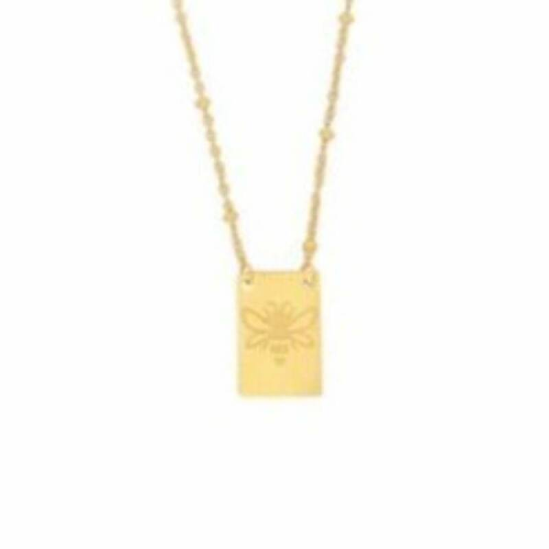 Little bee ketting rvs goud