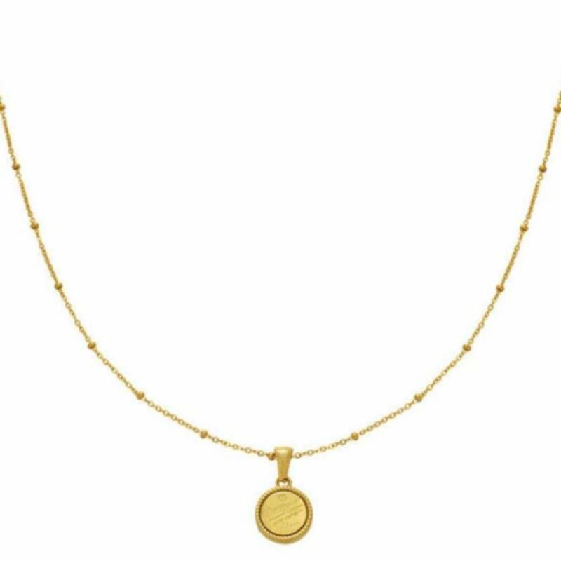 Stainless steel ketting - you are unique Goud