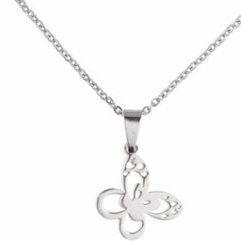 RVS Ketting Butterfly