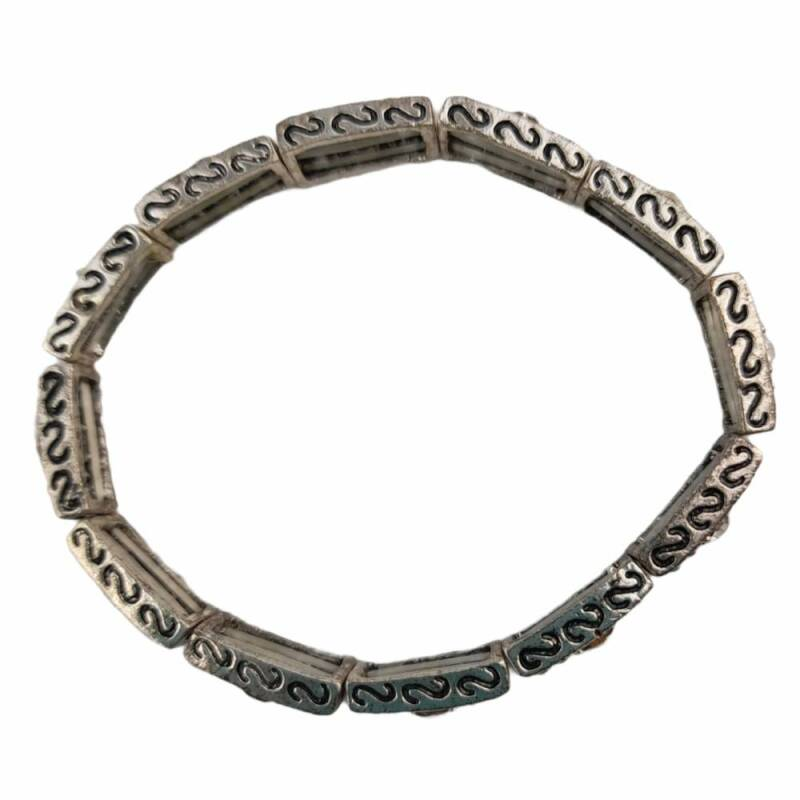 Armband Old silver strass