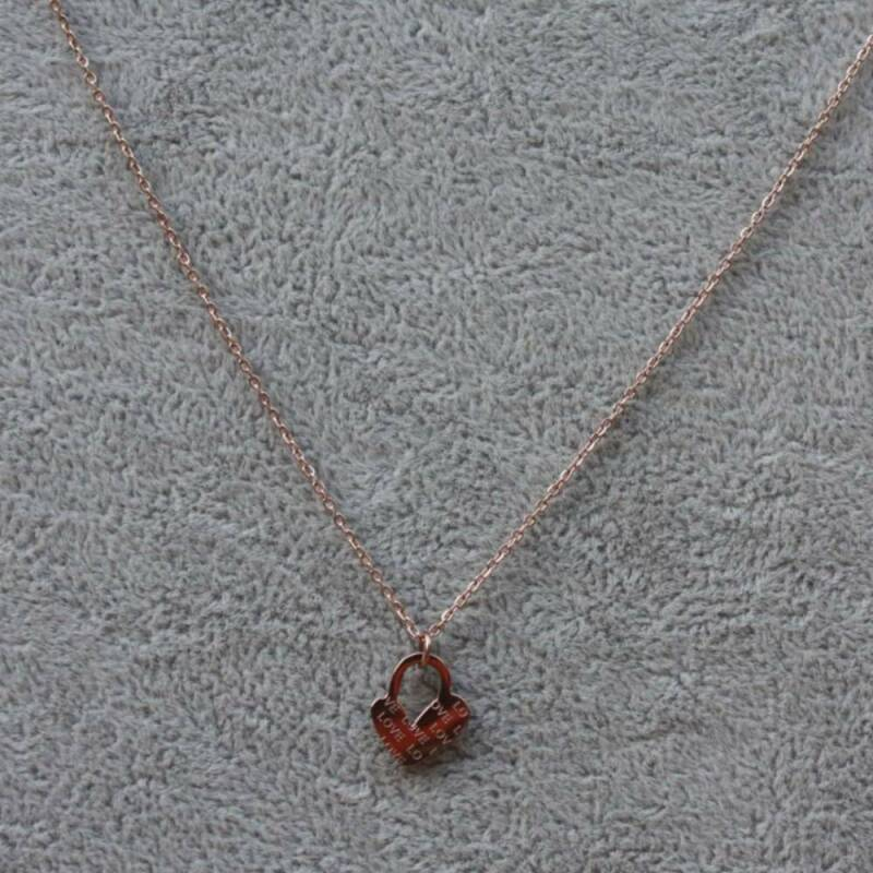 RVS love ketting rose