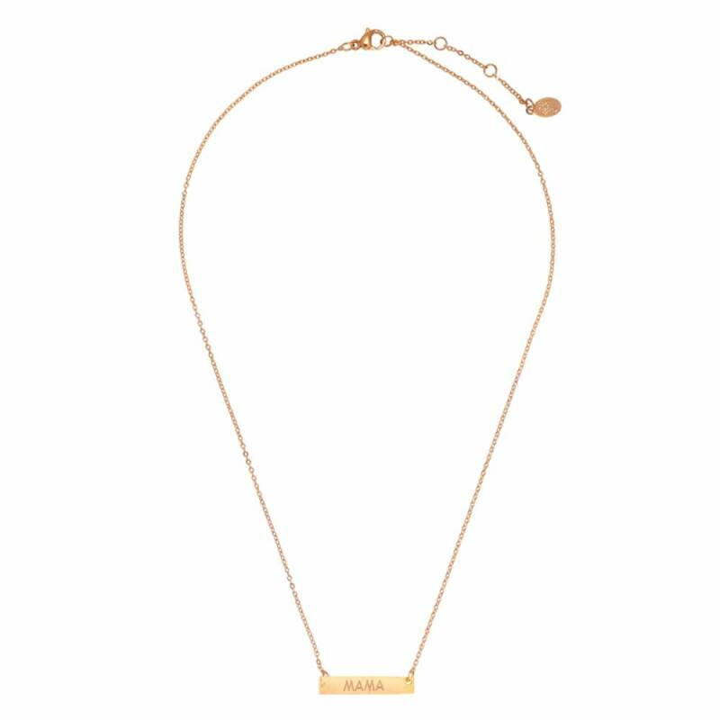 Stainless Steel Ketting Mama Rosé