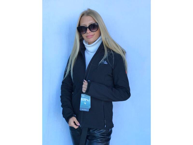 Softshell dames black