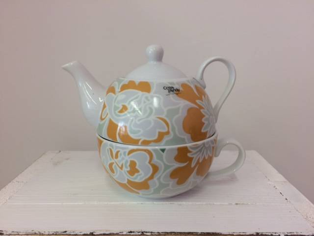 Tea for One Oranje Deco Flower
