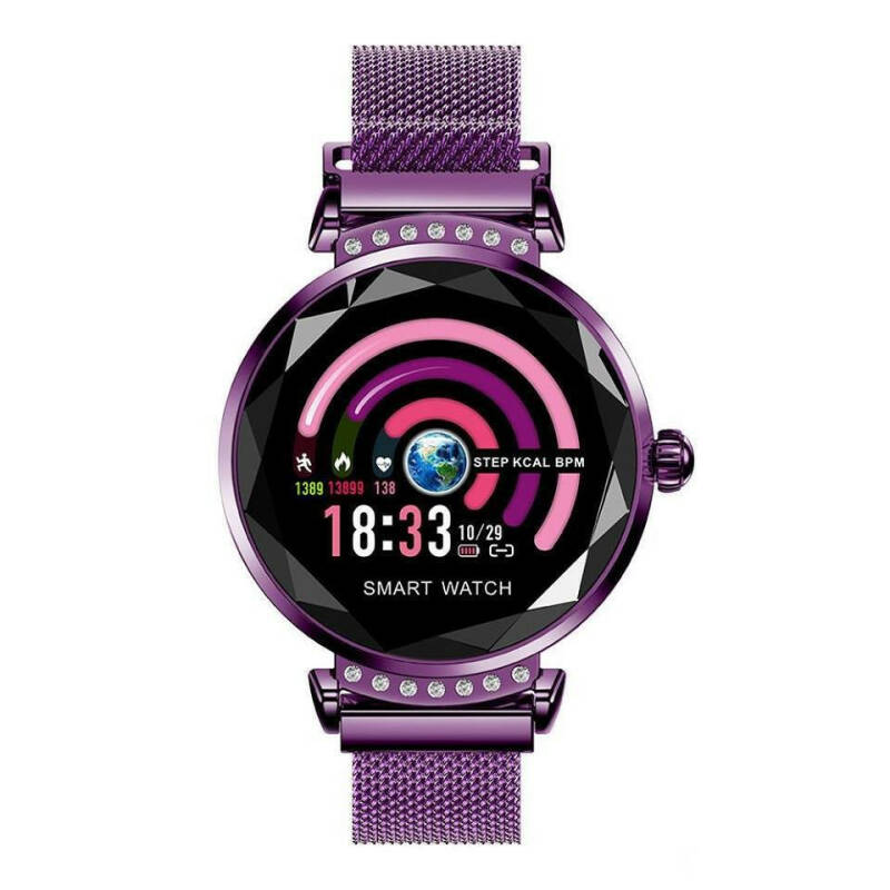 Dames smartwatch paars holm0996