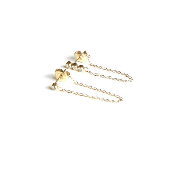 Studs - chain studs gold