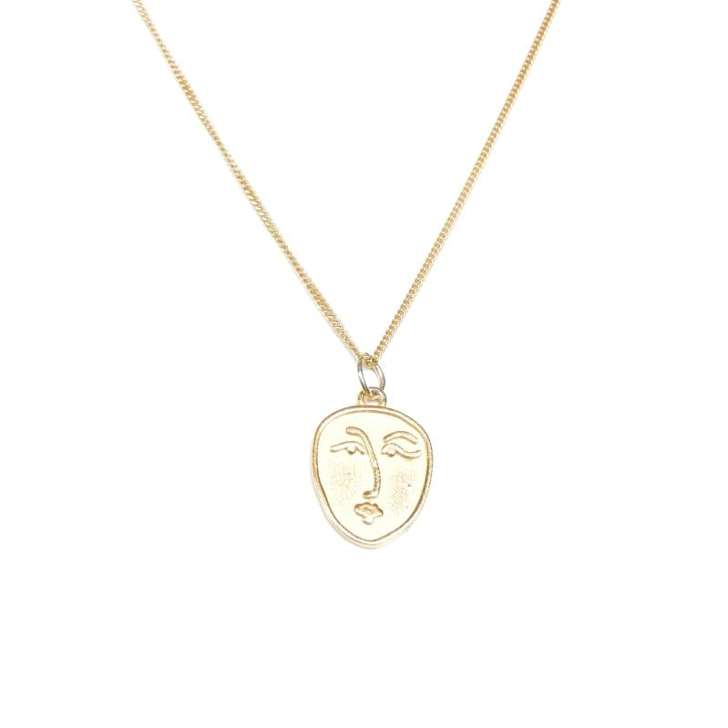 Ketting - abstract woman gold