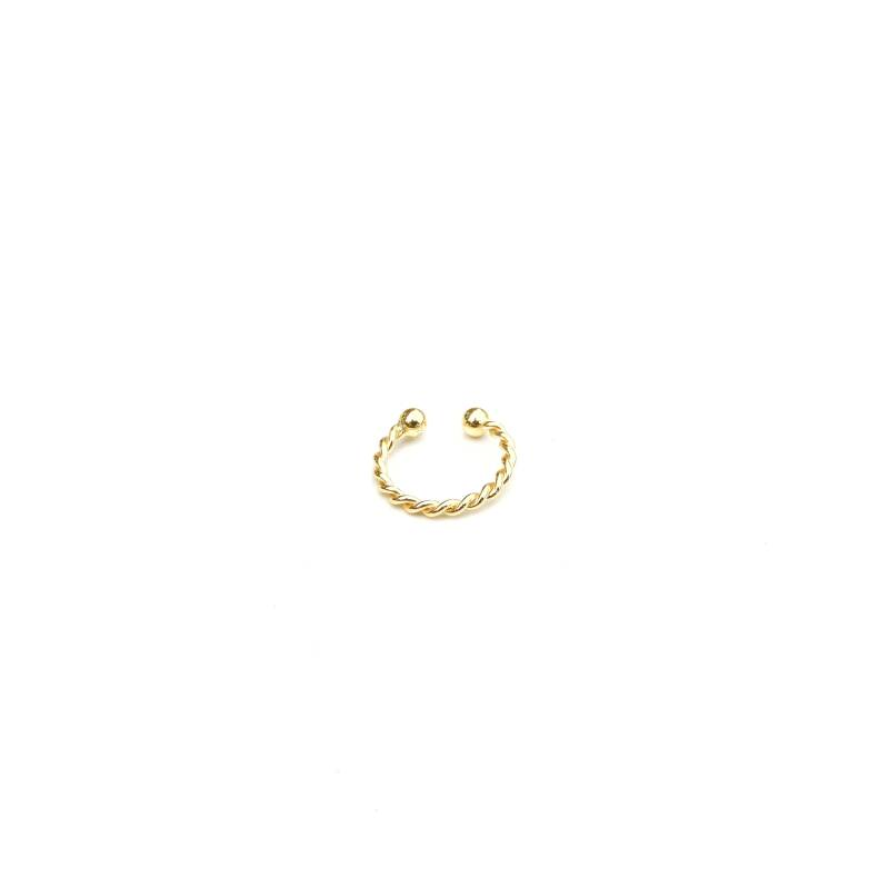Earcuffs - twisted gold