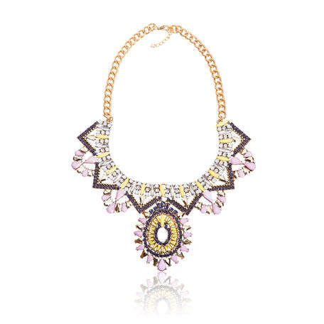 Dames Strass Ketting - T 4005