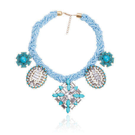 Dames Strass Ketting - T 4006